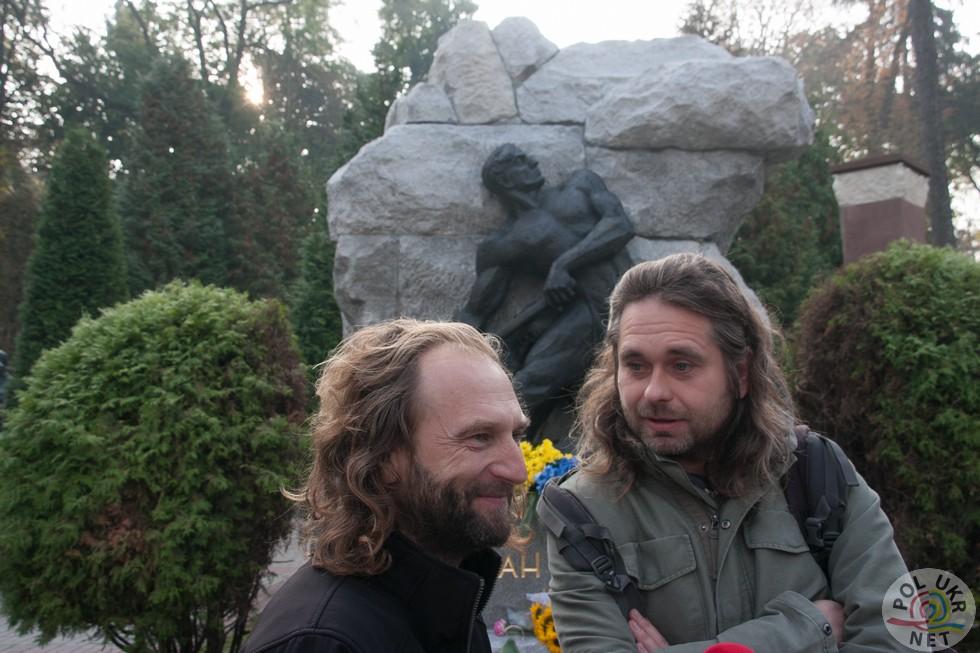 Реставратори Тарас Бенях та Кшиштоф Юрков
