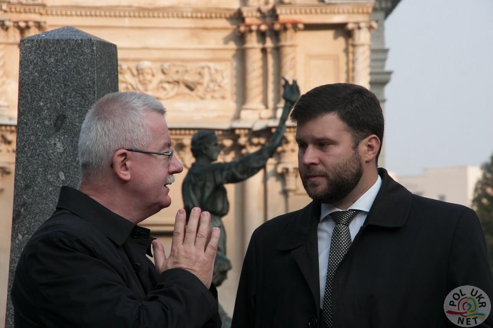 Генеральний консул РП у Львові Ярослав Дрозд (ліворуч)