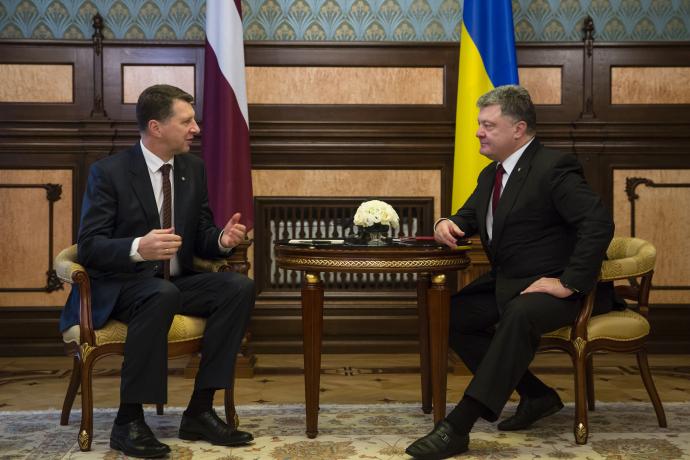 Петро Порошенко та Раймондс Вейоніс. president.gov.ua