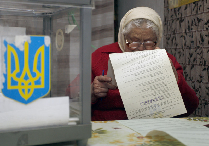Parliamentary elections in the Ukraine.