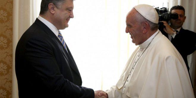 Папа Римський Франциск і Президент України Петро Порошенко. Фото: president.gov.ua