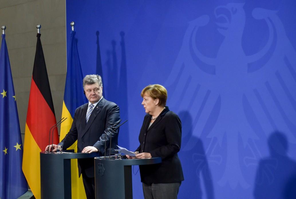 Петро Порошенко й Ангела Меркель. Фото: president.gov.ua