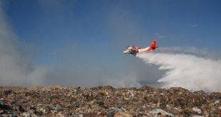 Pożar na wysypisku śmieci k. Lwowa: nie ma podstaw do paniki