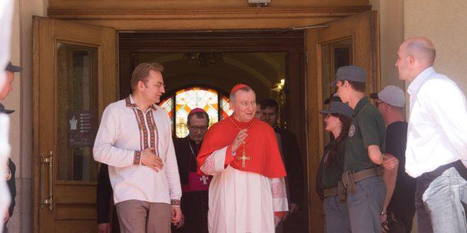 Андрій Садовий і П'єтро Паролін. Фото POLUKR.net, автор - Андрій Поліковський
