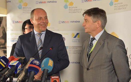 Андрій Парубій і Марек Кухцінський. Фото: rada.gov.ua