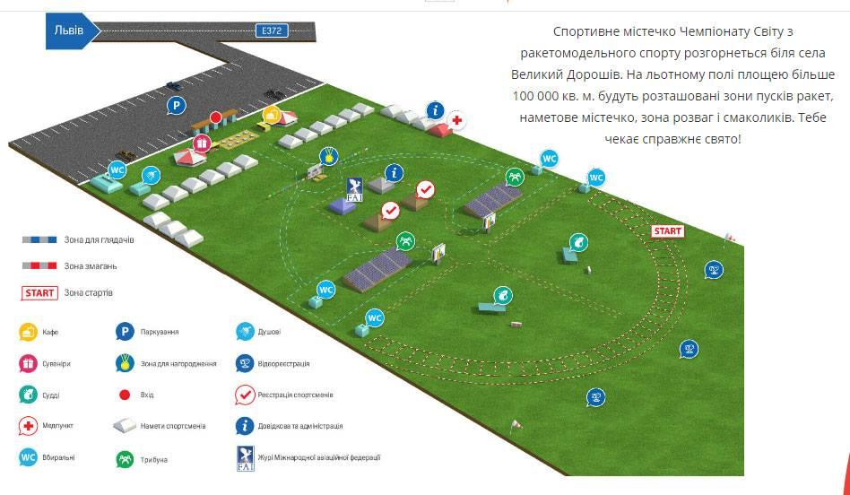 Схема спортивного містечка. Джерело: worldrocket2016