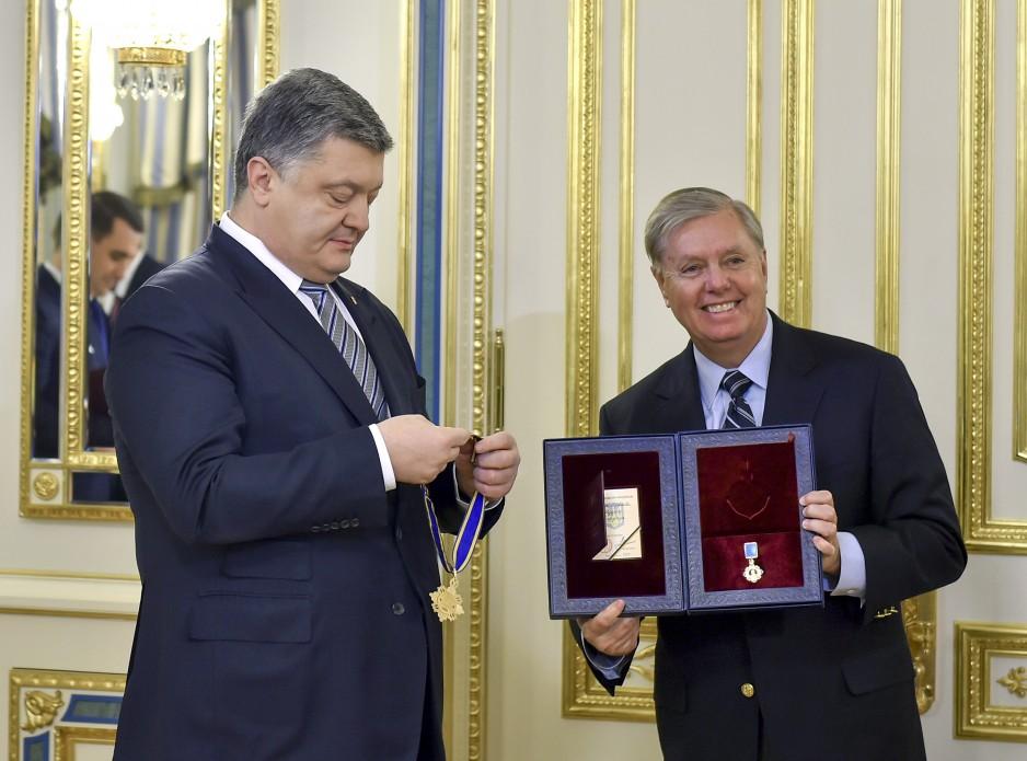 Петро Порошенко і Ліндсі Грем. Фото: president.gov.ua