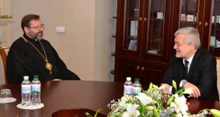 Блаженніший Святослав і Ян Пєкло. Фото: news.ugcc.ua