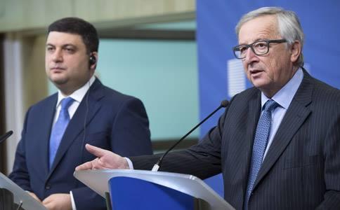 Володимир Гройсман і Жан-Клод Юнкер. Фото: kmu.gov.ua