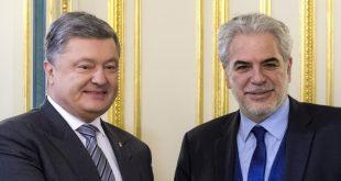 Петро Порошенко і Христос Стиліанідес. Фото: president.gov.ua