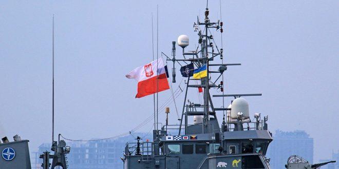 """Штабний корабель """"Контр-адмірал К.Черніцький"""" (""""ORP K.X. CZERNICKI"""", ВМС Польщі). Фото: mil.gov.ua"""