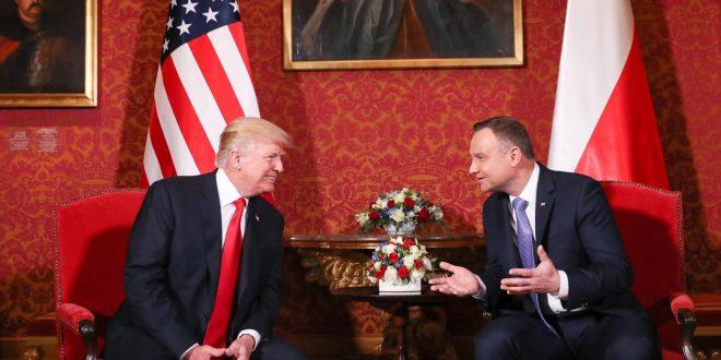 Дональд Трамп та Анджей Дуда. Фото: president.pl