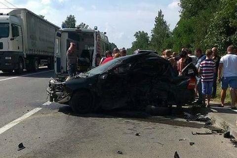 Місце аварії. Фото: facebook.com/MVS.LVIV