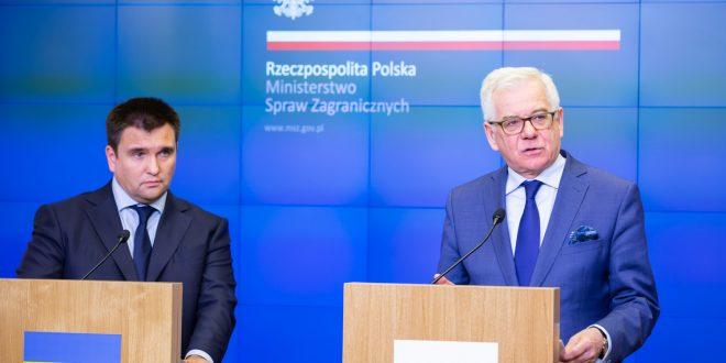 Павло Клімкін та Яцек Чапутович. Фото: Tymon Markowski / msz.gov.pl