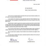 Лист посольства Польщі в Україні. / Фото Посольства Польщі в Україні.
