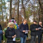 Польські активісти читають звернення. / Фото Ігоря Тимоця.