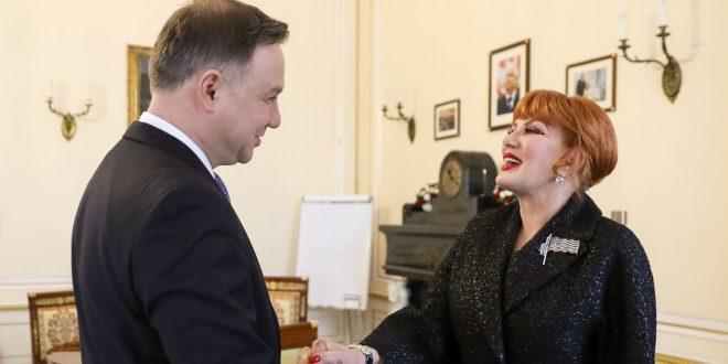 Президент Польщі Анджей Дуда і посол США у Польщі Жоржетта Мосбахер. Фото: prezydent.pl