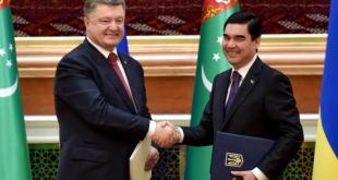 Президент України Петро Порошенко та Президент Туркменістану Гурбангули Бердимухамедов. Фото: president.gov.ua