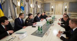 Зустріч керівників оборонних відомств 5 країн з Петром Порошенком. Фото: president.gov.ua