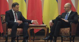 Анджей Дуда й Арсеній Яценюк. Фото: yatsenyuk.org.ua