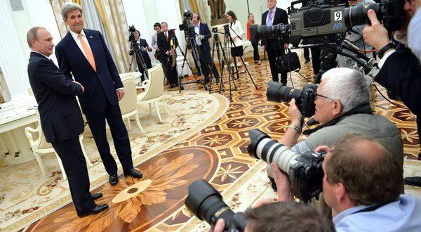 Джон Керрі та Володимир Путін. Фото: kremlin.ru