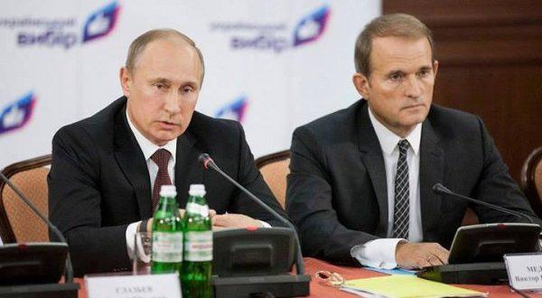 Володимир Путін, Віктор Медведчук. Фото: jankoy.org.ua