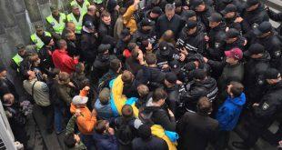 Сутички у Києві. Фото: npu.gov.ua
