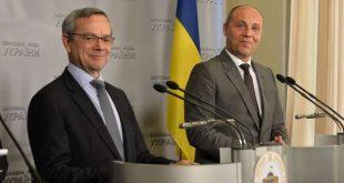 Паоло Аллі й Андрій Парубій. Фото: rada.gov.ua