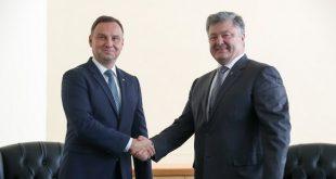 Анджей Дуда та Петро Порошенко. Фото: president.gov.ua