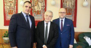 Олександр Ганущин, Ян Пєкло та Рафал Вольський. Фото: oblrada.lviv.ua