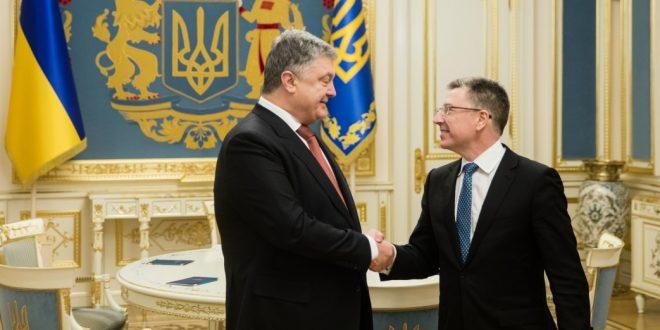 Курт Волкер і Петро Порошенко. Фото: president.gov.ua