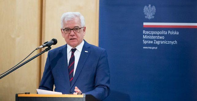 Міністр закордонних справ Польщі Яцек Чапутович. Джерело: gov.pl/web/dyplomacja