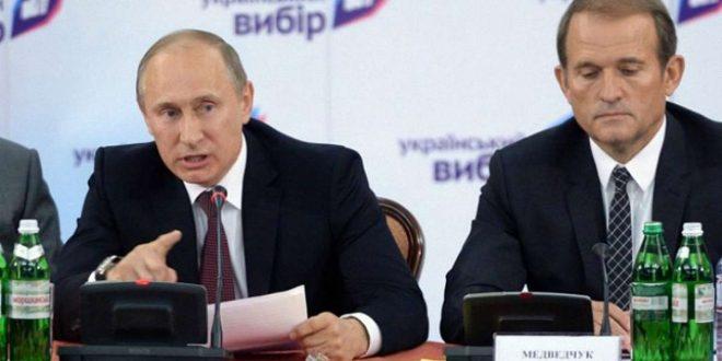 Володимир Путін та Віктор Медвечук. / Фото focus.ua
