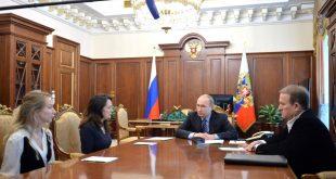 Spotkanie Wiktora Medwedczuka z Władimirem Putinem / fot. kremlin.ru, CC BY 4.0, https://commons.wikimedia.org/w/index.php?curid=49004194